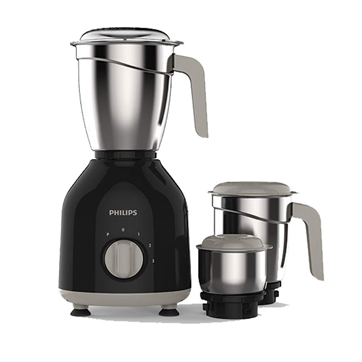 philips hl775600 mixer grinder 750w 3 jars (black)