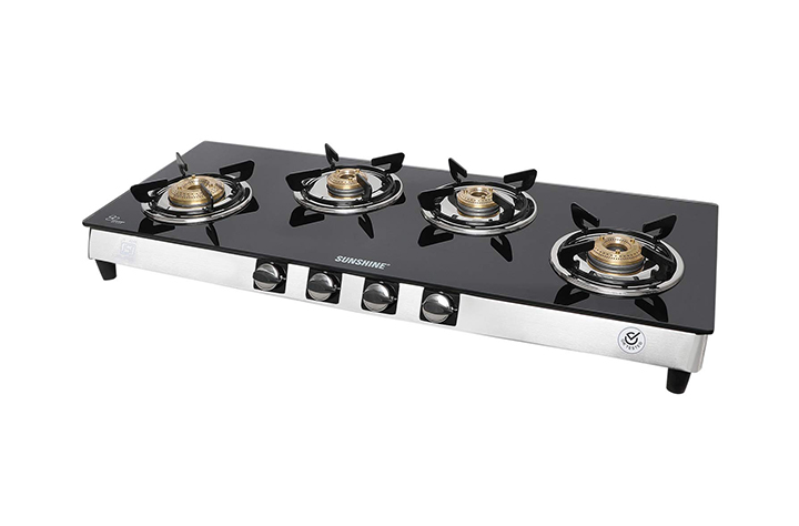 sunshine olympic gold 4 burner gas stove