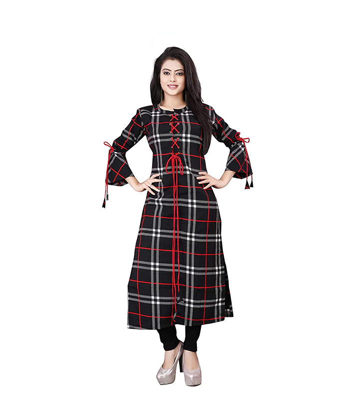 Leriya Fashion Women's Cotton Anarkali Kurta