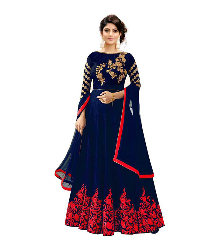 Shaktikrupa Creation Women's Embroidered Anarkali