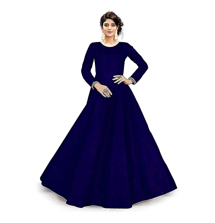 Venticko Creation womens Bridal Gown and Anarkali type suit Gown