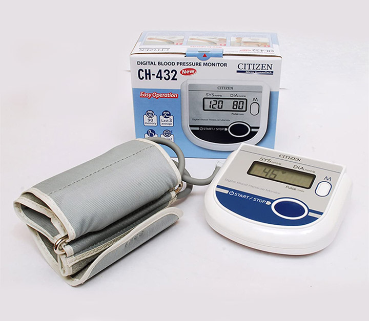 citizen ch 432 digital blood pressure monitor