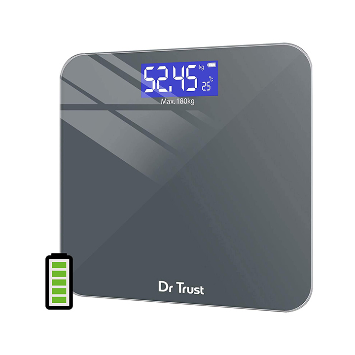 dr trust (usa) electronic platinum rechargeable digital personal weighing scale