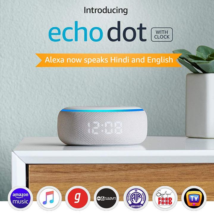 echo dot 3rd gen with clock