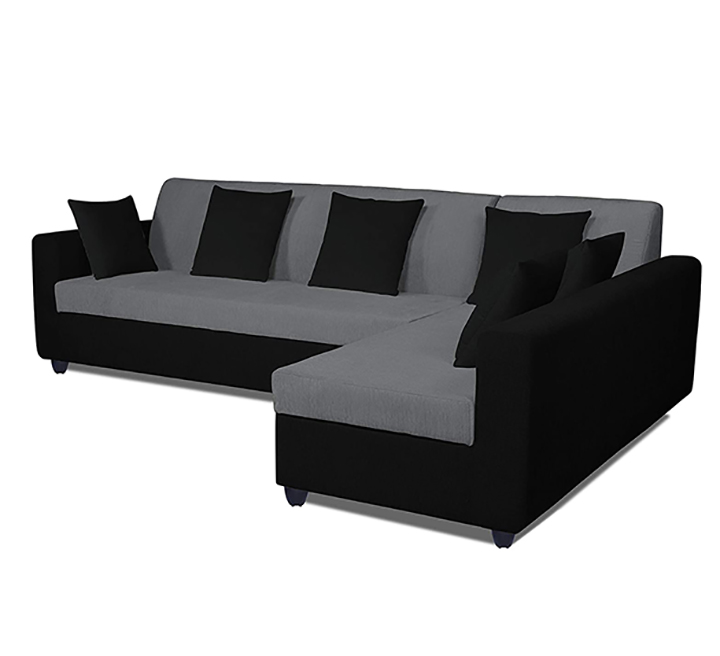 adorn india rio decent l shape 5 seater corner sofa set