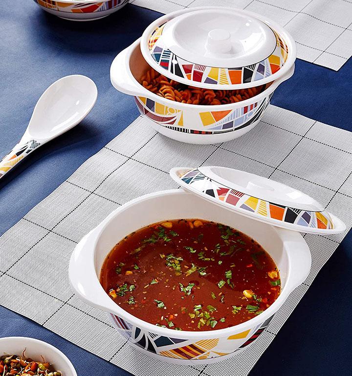 amazon brand - solimo melamine casserole set