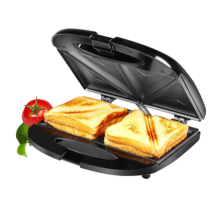 amazon brand - solimo non-stick sandwich maker (750 watt black)