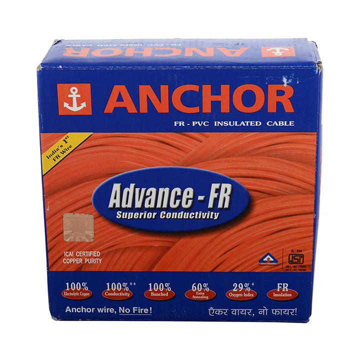 anchor insulated copper pvc cable 1.0 sq
