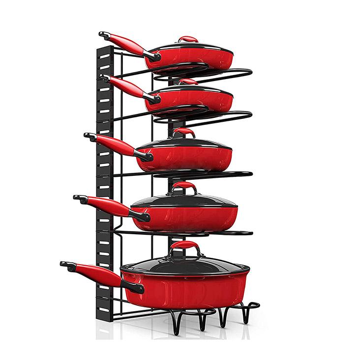 axmon kitchen cabinet cookware organizer stand