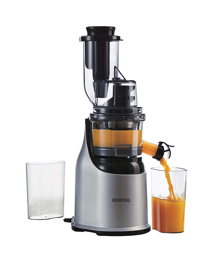 borosil health pro cold press slow juicer 200w