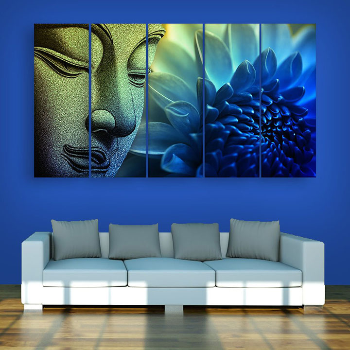 buddha wall painting for living room