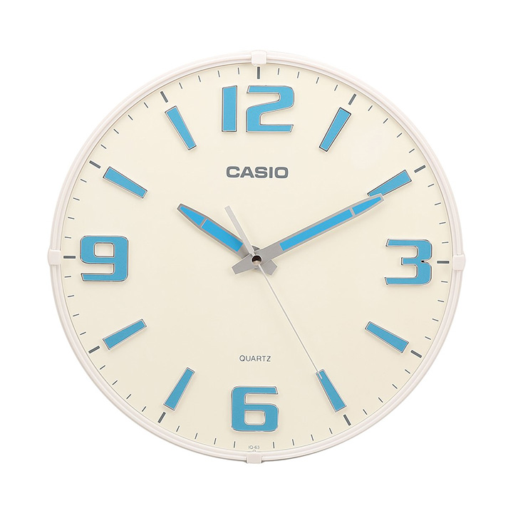 casio round resin analog wall clock