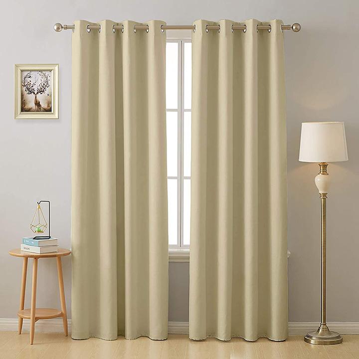 cloth fusion valance room darkening 2 pc blackout curtains
