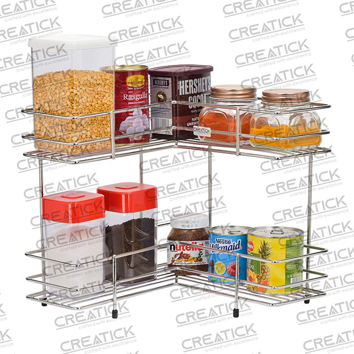 creatick - 2 tier kitchen and bathroom storage rack