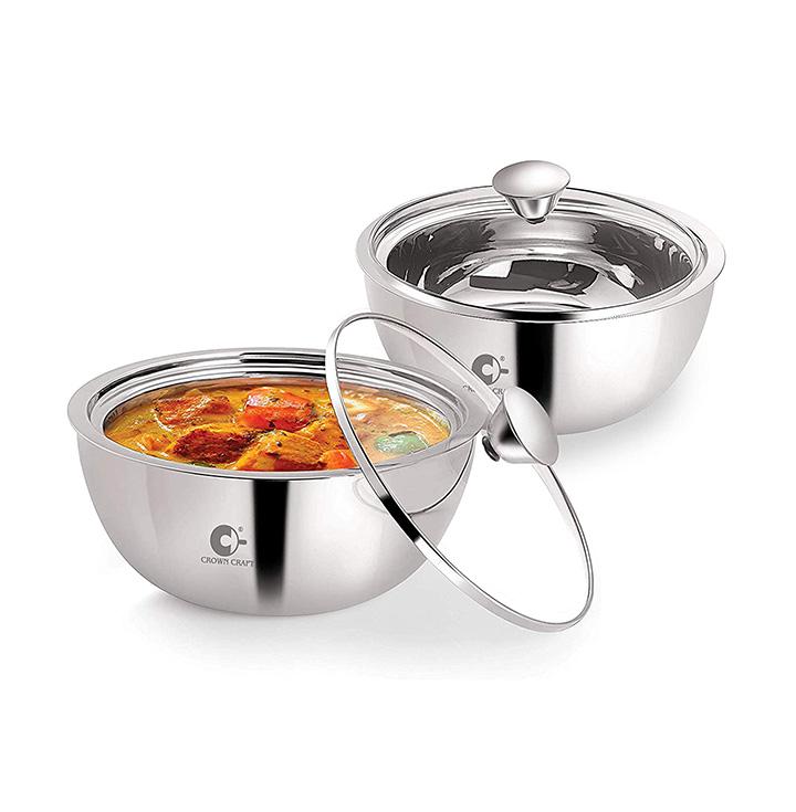 crown craft casserole set of 2