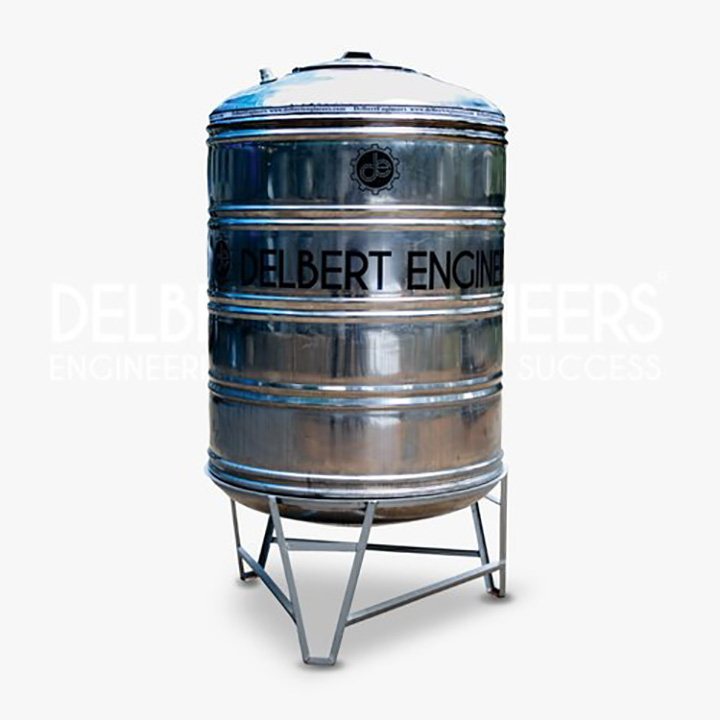 delbert engineers stainless steel water tank