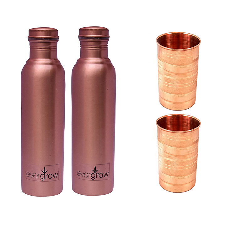 evergrow leak proof copper bottle for water