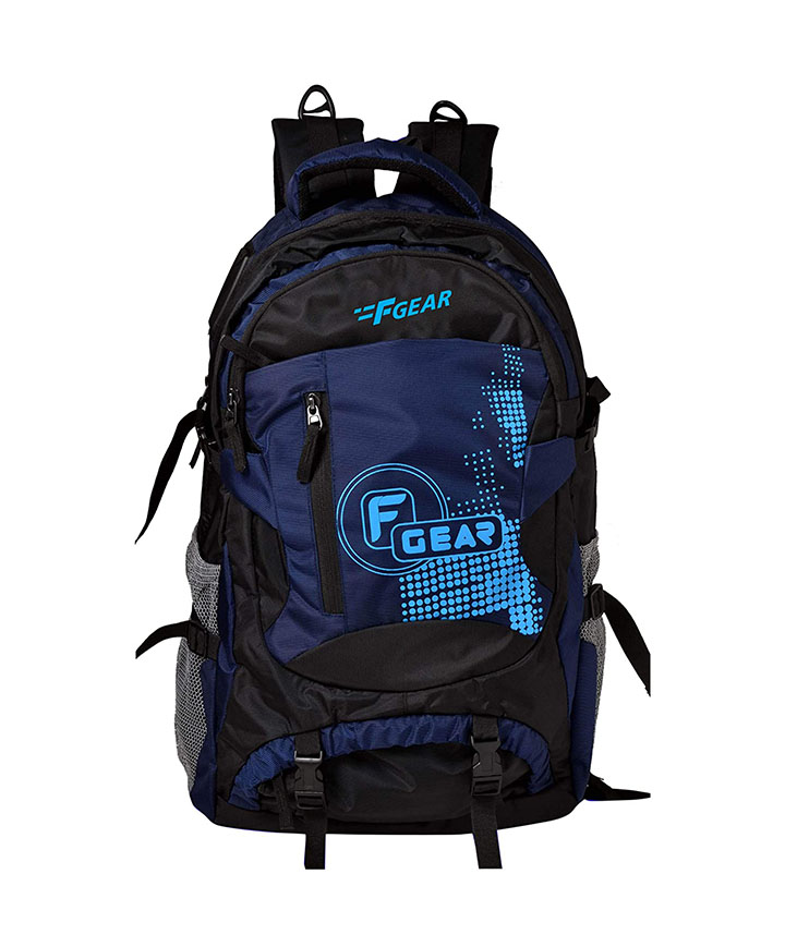 f gear orion 46 ltrs navy blue black rucksack