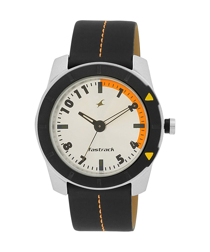 fastrack analog multi-color dial men's watch