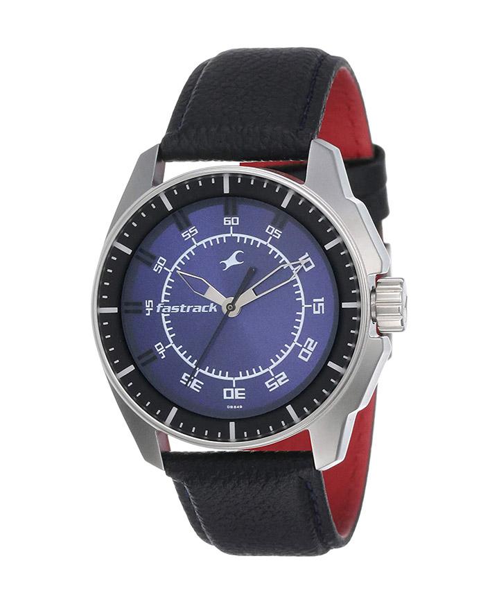 fastrack black magic analog blue dial men's watch