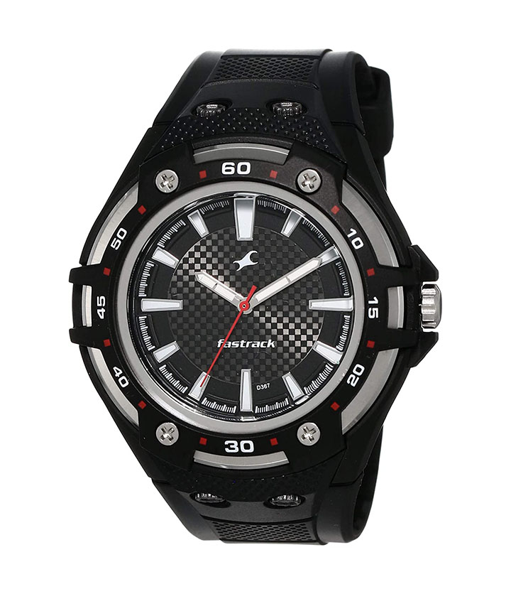 fastrack new ots analog black dial men's watch
