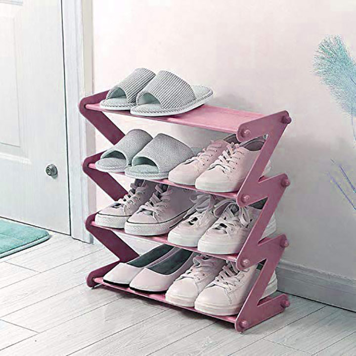 gtc 4 layer z type lightweight shoe organizer rack