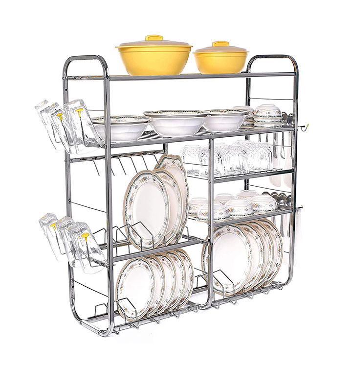 home creations wall mount kitchen dish rack