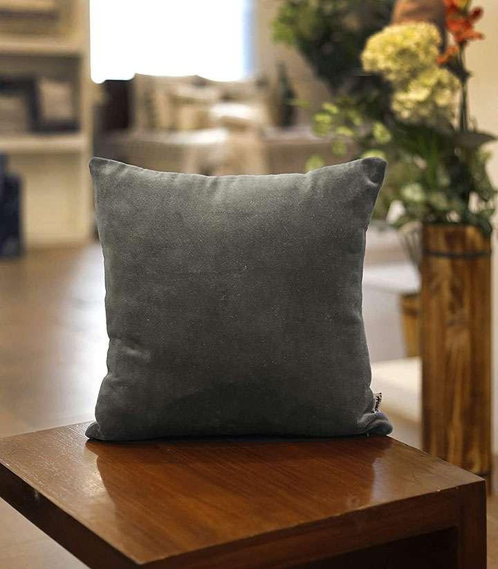 home velvet cushion cover