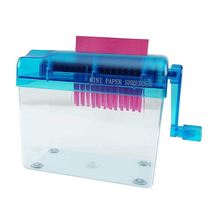 home-x hand crank paper document shredder