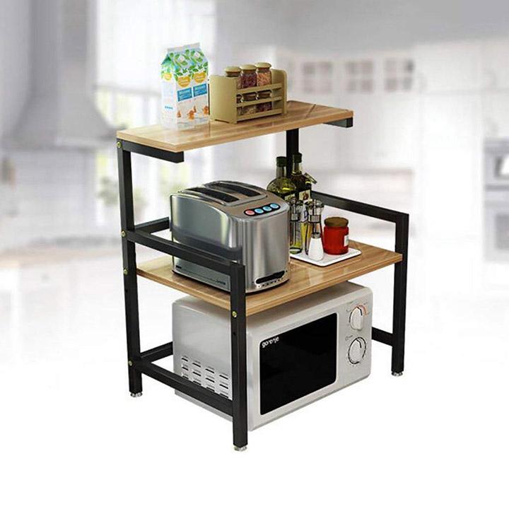 indian decor metal 2-tier kitchen shelf