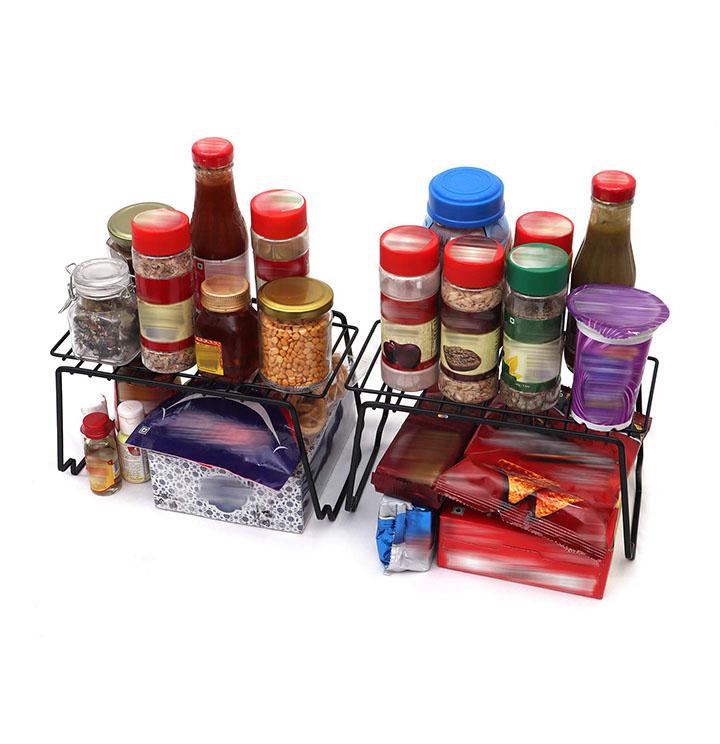 livzing multipurpose stackable kitchen bathroom organizer