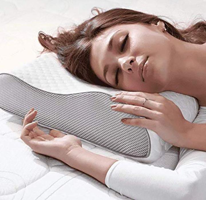 mojorest cervical contour memory foam pillow