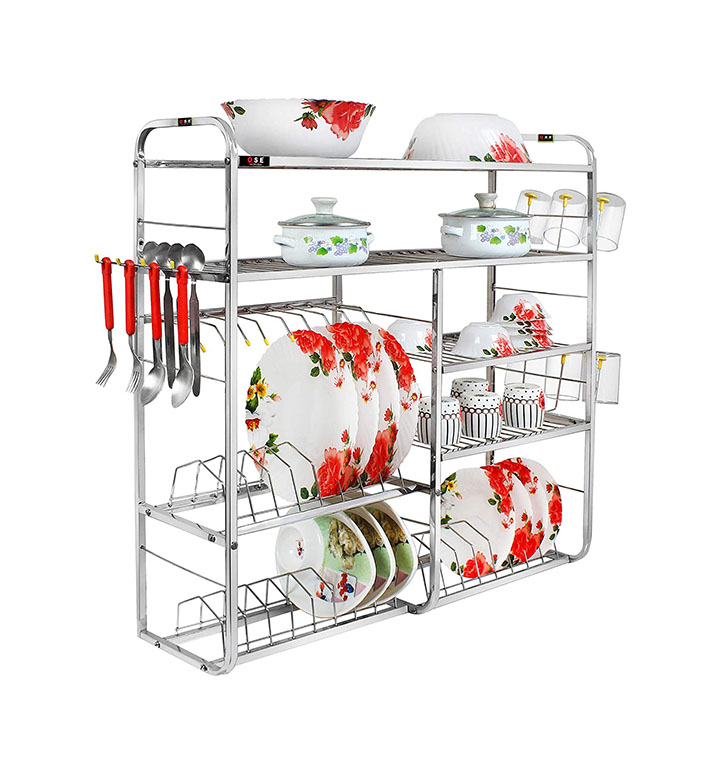 ose wall mount kitchen dish rack