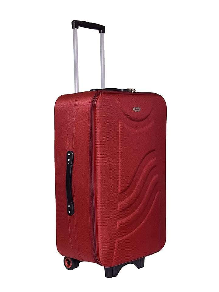 rainbow prisma polyester check suitcase