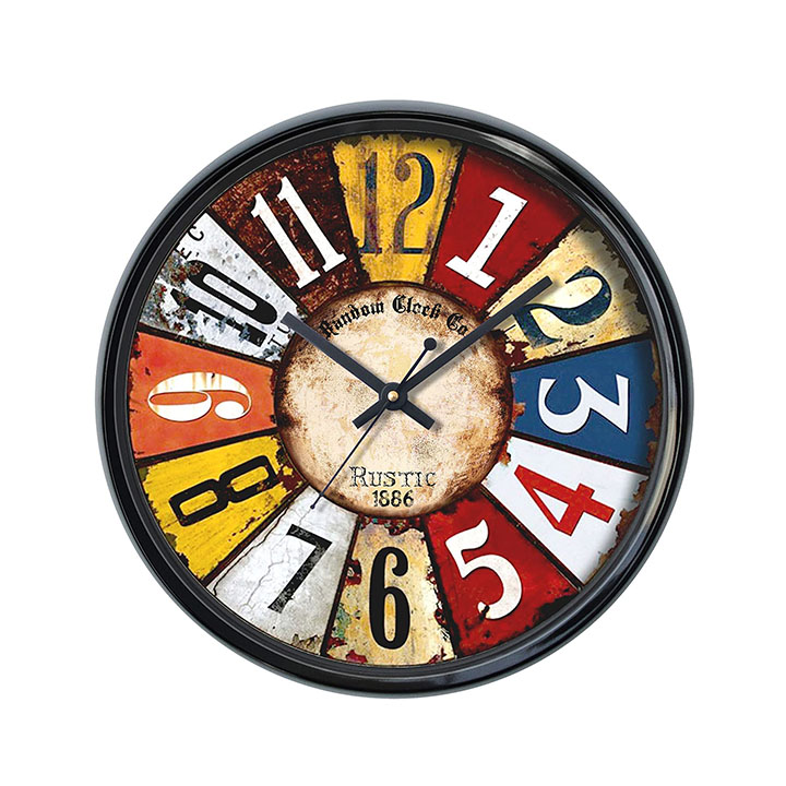 random color wall clock