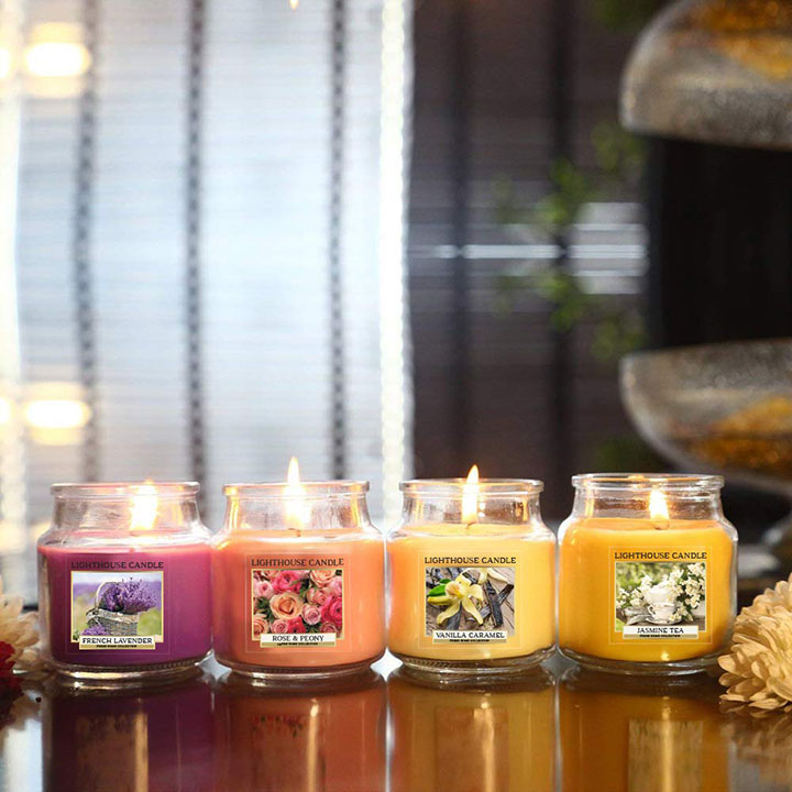 richly scented candles
