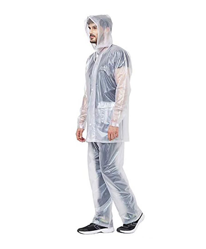 romano nx 100 waterproof heavy duty double layer hooded raincoat