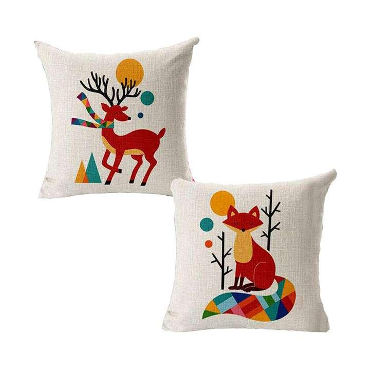 swasiya jute printed decorative sofa square cushion covers