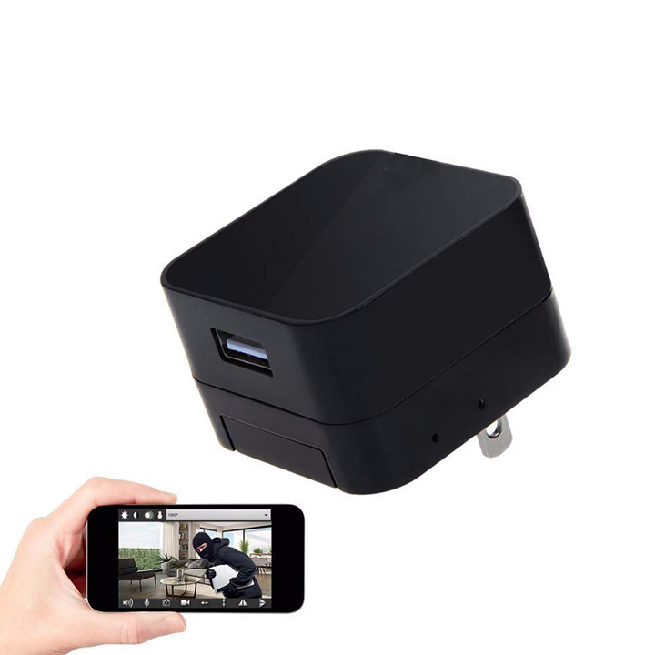 usb wall ac charger adapter security hidden camera