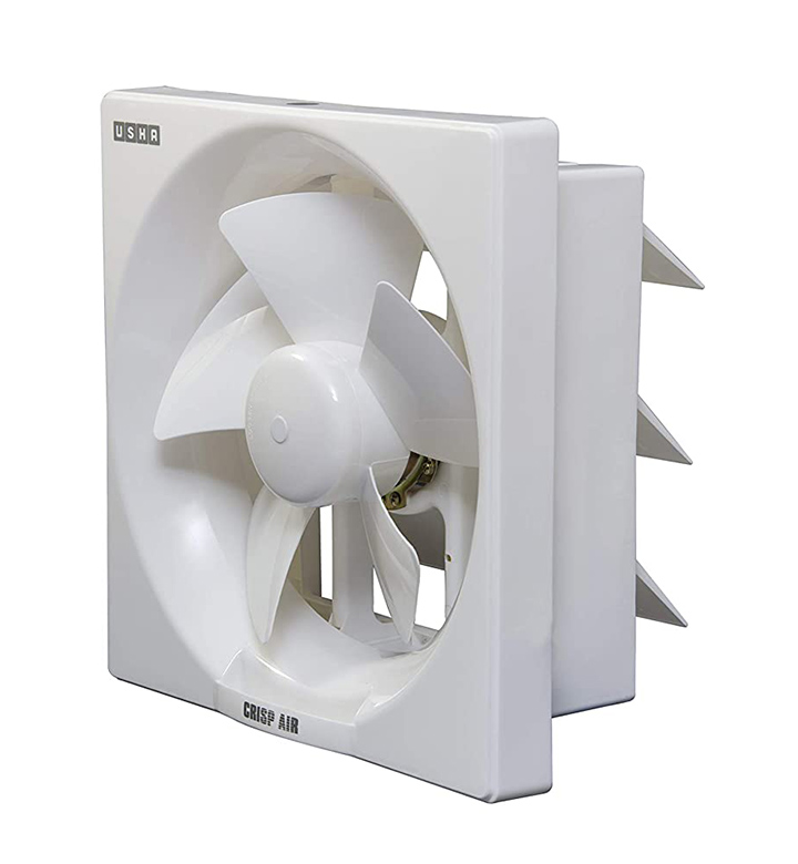 usha crisp air 250mm sweep size 345 mm duct size exhaust fan (pearl white)
