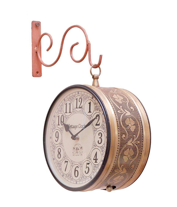 vintage double sided wall clock