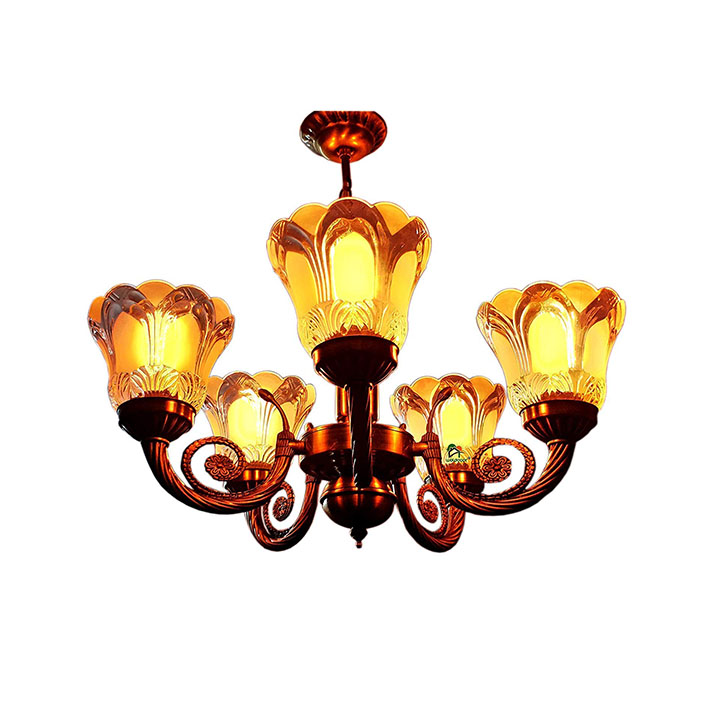 weldecor® antique 5 lamp designer chandelier