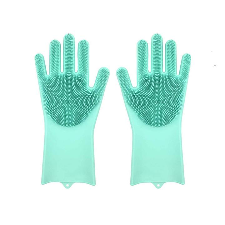ZOQWEID Silicone Scrubbing Gloves