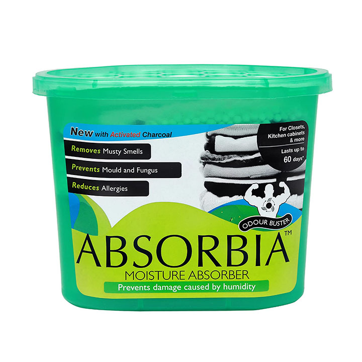 absorbia moisture absorber and odour buster with activated charcoal