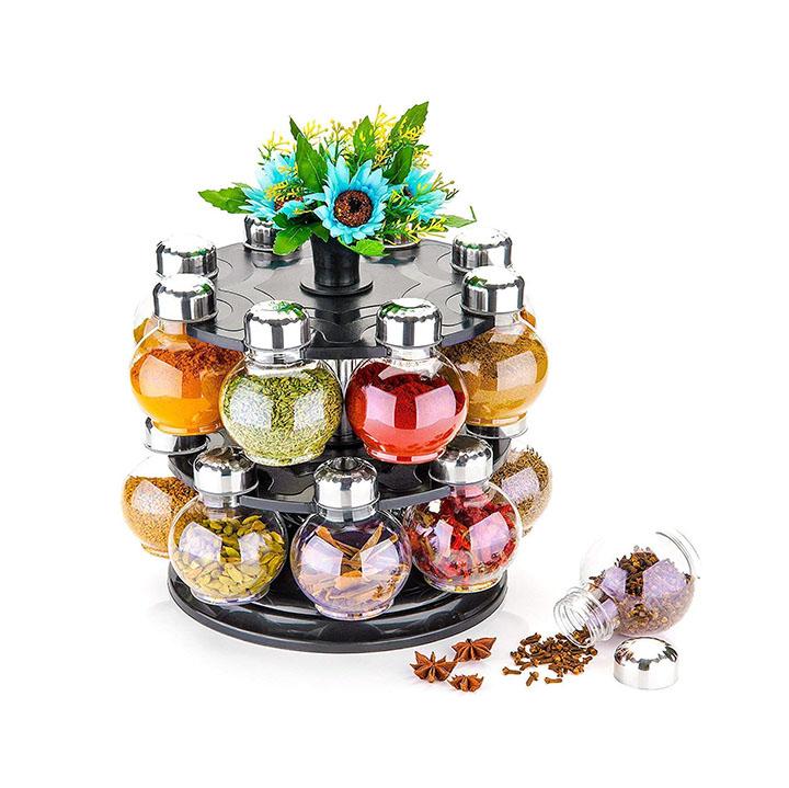 atman 360 degree revolving spice rack