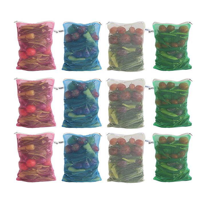 beddify reusable fridge mesh fabric storage bag