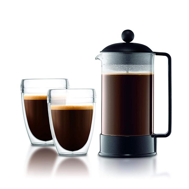 bodum brazil french press coffee and tea maker 12 ounce black