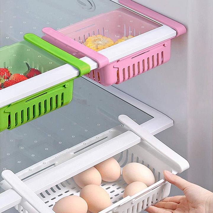 brown monkey multipurpose adjustable refrigerator storage tray