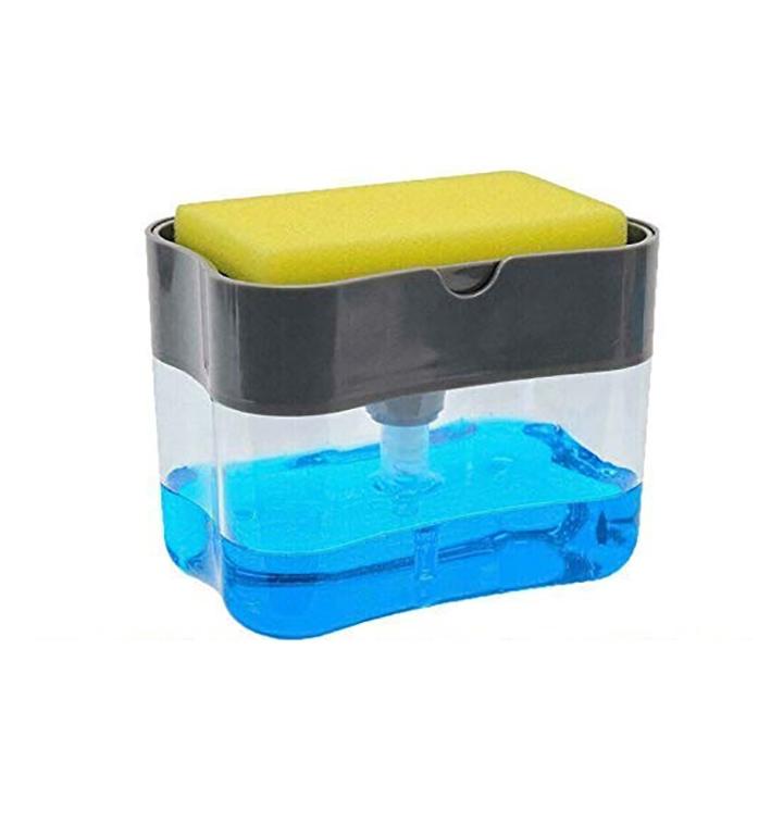dd retails soap dispenser with sponge holder
