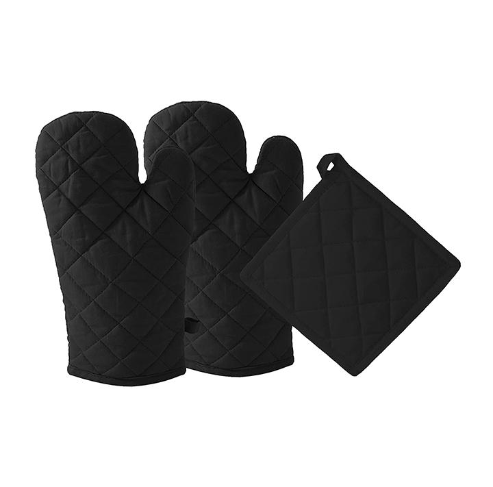 dm cool cotton - oven mitts gloves & pot holder set